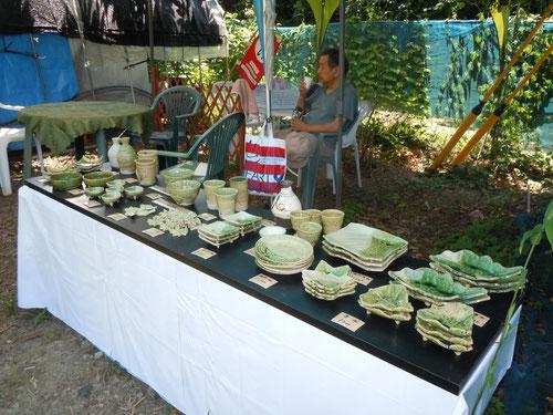 休憩所の隣では陶芸コーナーも