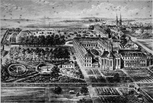 Le couvent de la Vierge Fidèle vers 1890