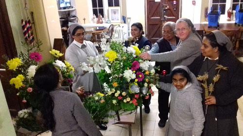 Préparation florale d'un jubilé NDF à Norwood (29.02.20)