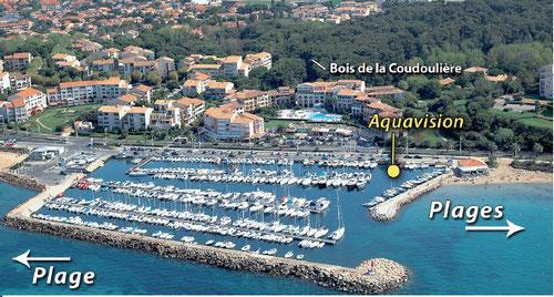 emplacement aquavision port de la coudouliere six fours