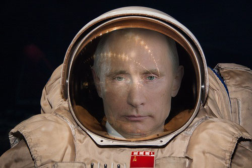 Putin in an astronaut suit
