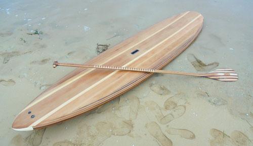 Fabrication d'un stand up paddle en bois à saint jean de monts