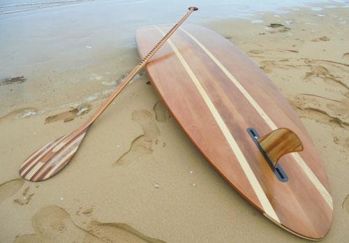 stand up paddle en bois saint jean de monts noirmoutier