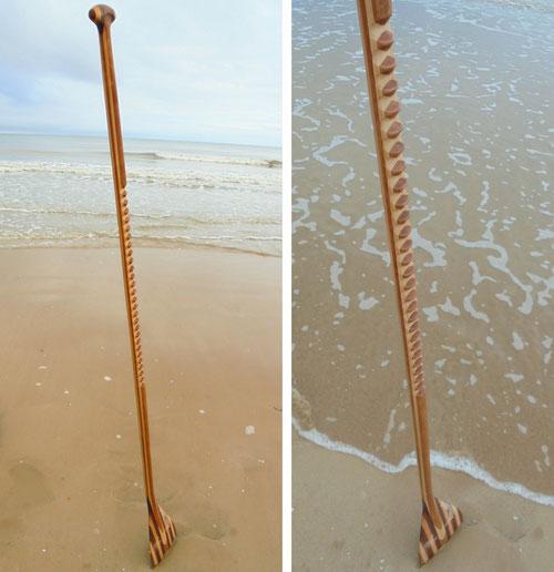 Pagaie de paddle en bois menuisier à saint jean de monts