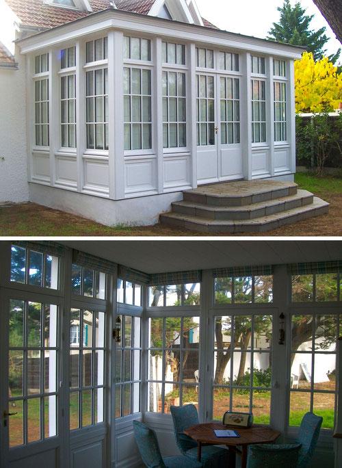 veranda en bois menuisier saint jean de monts saint hilaire de riez