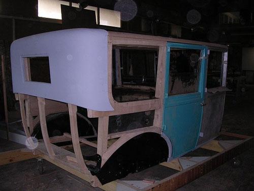 restauration de véhicules bois