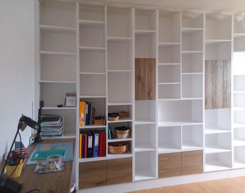bibliothèque bureau aménagement interieur challans