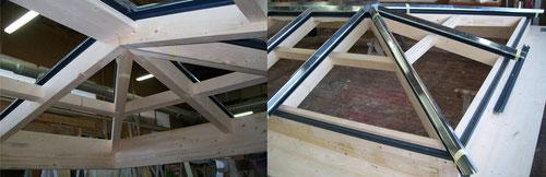 verrière de toit en bois par technibois menuiserie à saint jean de monts