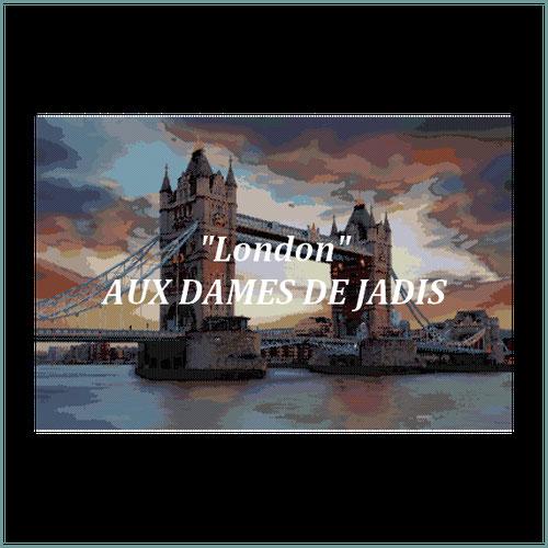 London/Tower Bridge/tapisserie/tapestry/pattern-peyote-seed beads-miyuki-délica-auxdamesdejadis