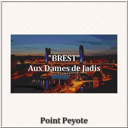 Brest-pont de recouvrance/tapisserie/tapestry/pattern-peyote-seed beads-miyuki-délica-auxdamesdejadis