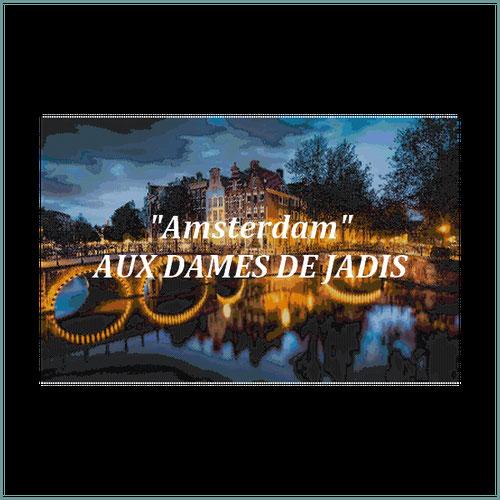 Amsterdam/pont/canaux/tapisserie/tapestry/pattern-peyote-seed beads-miyuki-délica-auxdamesdejadis