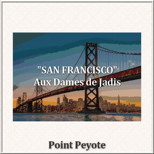 San Francisco/Golden Gate/tapisserie/tapestry/pattern-peyote-seed beads-miyuki-délica-auxdamesdejadis