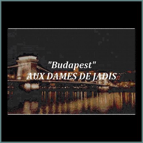 budapest-pont des chaînes-danube/tapisserie/tapestry/pattern-peyote-seed beads-miyuki-délica-auxdamesdejadis