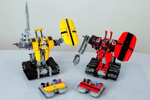 битва радиоуправляемых роботов на детский праздник день рождения