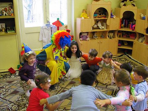 клоун или клоуны на детский праздник день рождения ребенка москва на дом детский сад школу