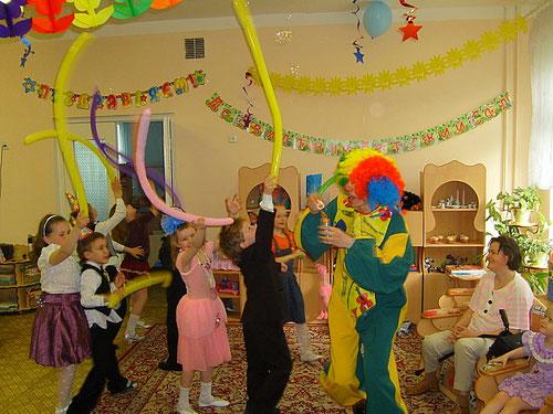 заказ вызов клоуна домой, детский сад, школу, вызов заказ клоунов на детский день рождения