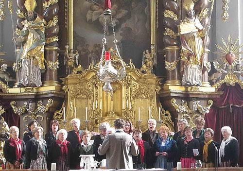 Messe bei Goldener Hochzeit des Chorleiters