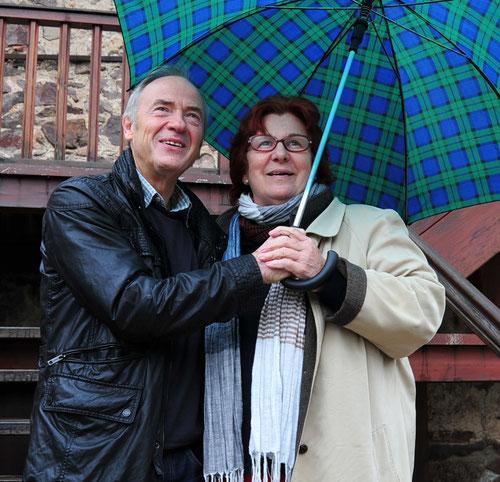 Vorstand der Burgbühne Oberkirch e.V.  Arthur Hilberer und Cornelia Bitsch