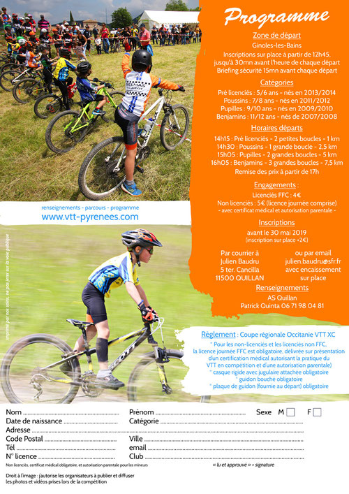 programme Mini Carach Bike 2019