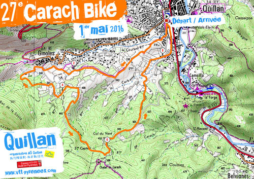 Plan de la Carach Bike 2016