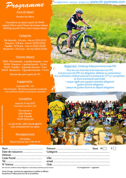 Mini Carach Bike 2017 - Programme