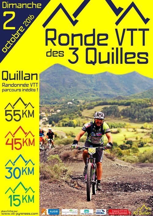 Ronde VTT des 3 Quilles 206 - Quillan - Aude - Pyrénées