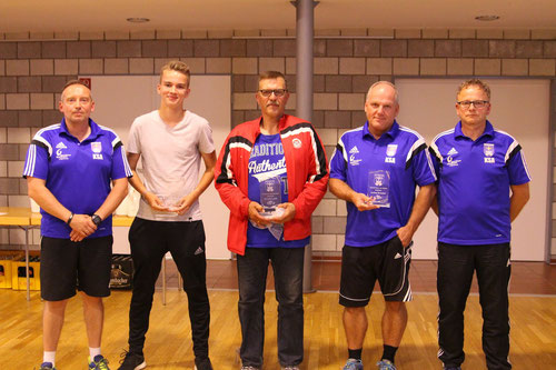 v.l.: Marc Quednau, Marvin Henke, Jörg Albrecht, Achim Brückel, Roland Epp