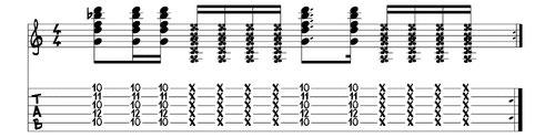 "funky Rhythmusgitarre Bsp.2: www.gitarre-lernen-online-kurse.de von Jörg Sieghart (u.a. Autor von ""Electric Guitar"")"