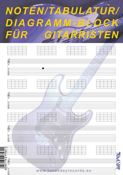 Tabulatur Leerblatt - zum Selbstausdrucken - als PDF kostenlos ...