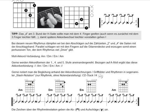 Auszug Seite 11 (Die klingende Akkordtabelle für Gitarre) www.tunesdayrecords.de