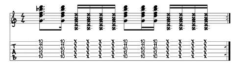 "funky Rhythmusgitarre Bsp.1: www.gitarre-lernen-online-kurse.de von Jörg Sieghart (u.a. Autor von ""Electric Guitar"")"