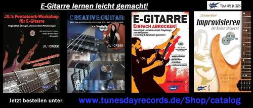 Bei Bestellung dieses Lehrbuch-Bundles für E-Gitarre direkt beim Hersteller bekommst du eine Gratis-Übungs-Playalong-CD zum Improvisieren üben mit Begleitband  !!!
