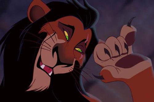 """""""Scar"""", notre lion tyran, séducteur, petit enfant meurtri au dedans par le trauma d'abus de pouvoir. Nous avons les mêmes aux commandes. Et les hyènes font aussi partie du casting de ce film délirant qui se joue sur toute les bonnes scènes politiques!"""