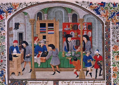 Das mittelalterliche Kontor, ein Ort des Kaufen und Verkaufen...