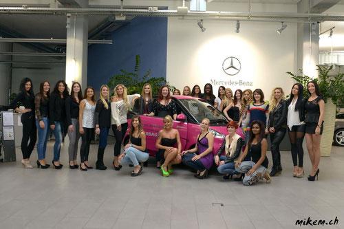 Casting Miss Auto Zürich 2013 Gruppenbild
