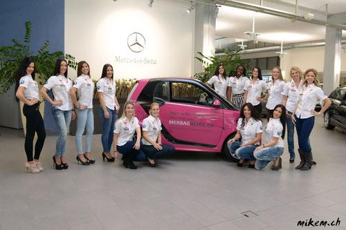 14 Kandidatinnen stehen zur Misswahl auf der Auto Zürich Car Show 2013 fest