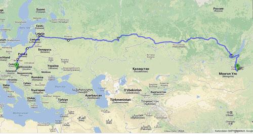 Rückreise über Russland, die baltischen Länder und Polen
