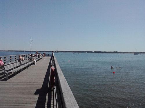 Mein Ziel nach 21 Km: die neue Seebrücke. Von hier...