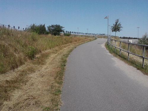 Km 15-16: Skandinavienkai. Ich kann Travemünde schon riechen. Für mich schlängelt sich der Weg jetzt hoch...