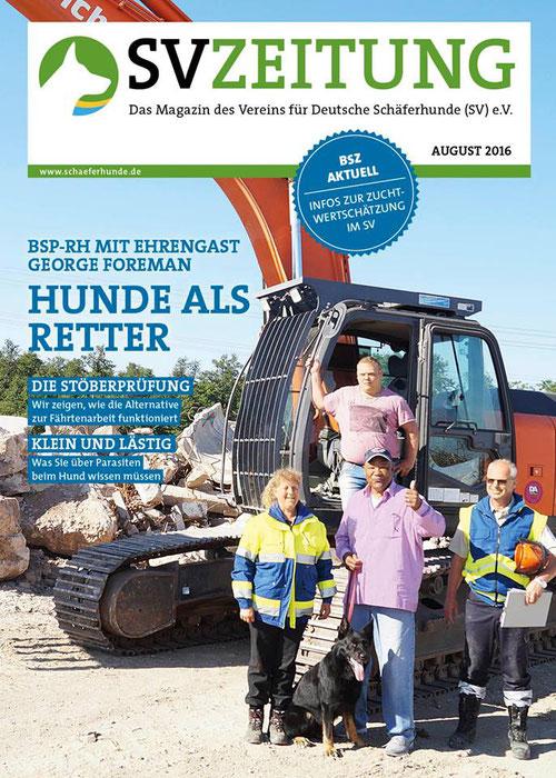 Titelseite der SV Zeitung, Acrux vom Falkenseer Stern und George Foreman