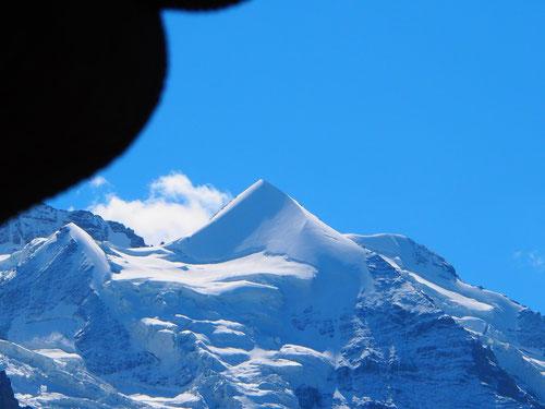 das Jungfrau-Joch erhaben, fast majestätisch