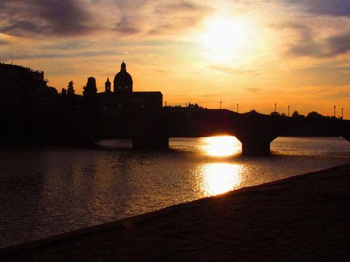 Abendsilouette von Florenz - wie ein altmeisterliches Landschaftsbild