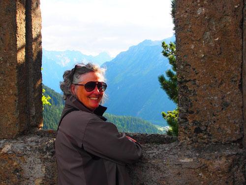 das Fenster am historischen Torre Belvedere