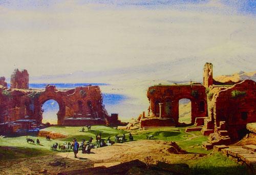 historisches Bild von 1849, damals war die Arena noch ein Schafweide