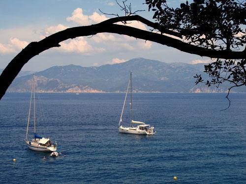 die kleine Bucht, die man nur zu Fuß erreicht, ein wirkliches Paradies