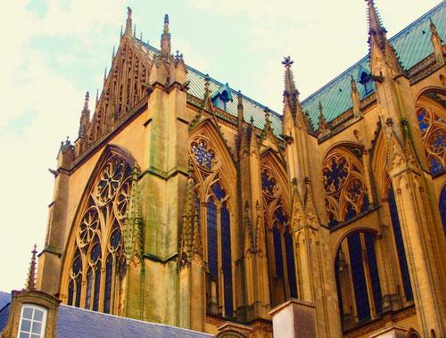 die gotische Kathedrale von Metz Saint-Etienne