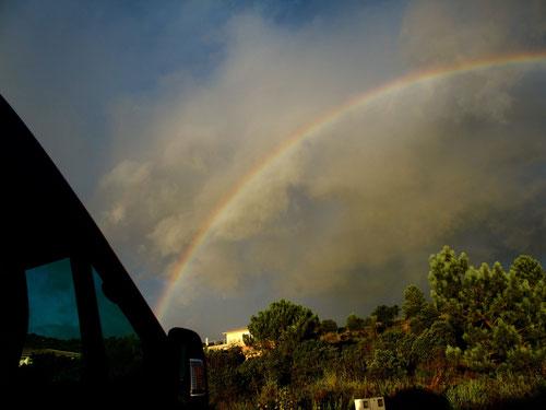zum Geburtstag unseres Sohnes Sebastian auch ein Regenbogen