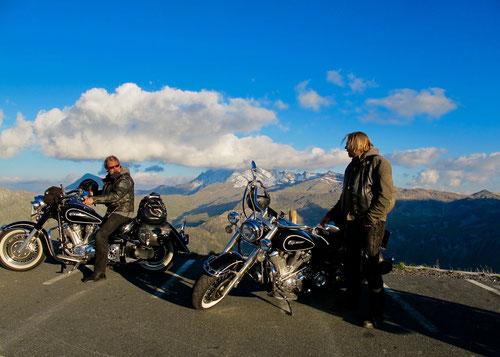 Jim und Clark kamen aus GB - sie waren unterwegs zum int. Biker-Treffen am Faaker-See