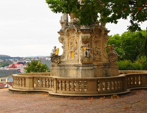 ein prunkvoller Barockbrunnen