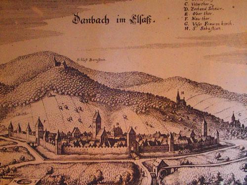 das mitrtelalterliche Stadtbild von Danbach